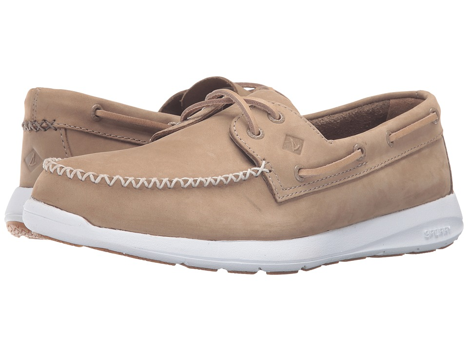 Sperry - Sojourn Nubuck (Taupe) Men's Lace Up Moc Toe Shoes