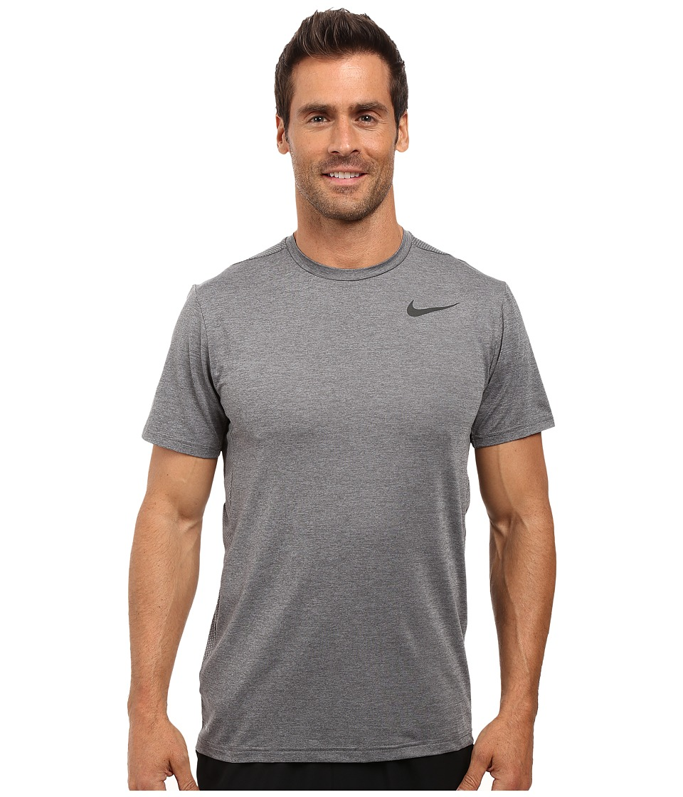 Nike - Dry Short Sleeve Training Top (Dark Grey/Wolf Grey/Black) Men's Clothing