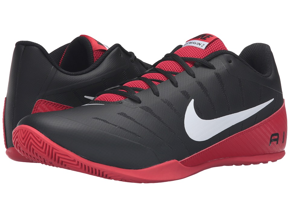 Nike - Air Mavin Low 2 (Black/University Red/White) Men's Basketball Shoes