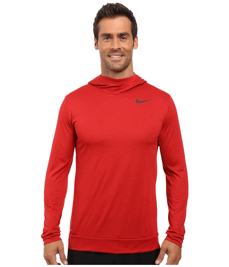 Nike - Dry Training Hoodie (Night Maroon/Gym Red/Black) Men's Clothing