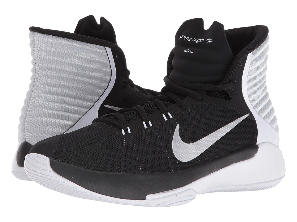 Nike - Prime Hype DF 2016 (Black/White/Pure Platinum/Reflect Silver) Women's Basketball Shoes