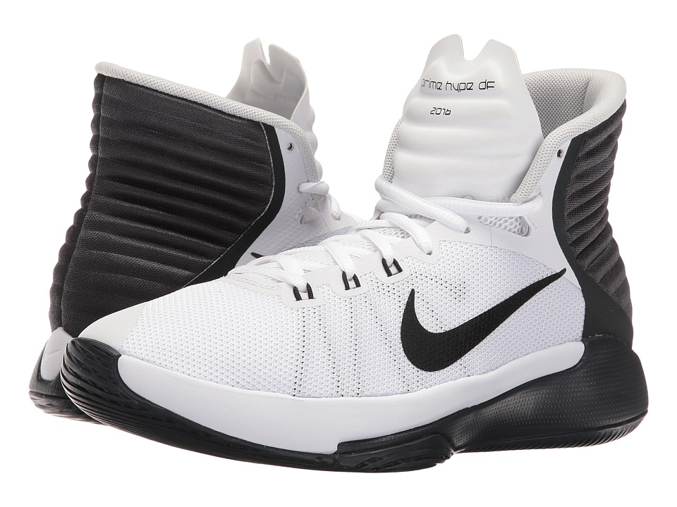 Nike - Prime Hype DF 2016 (White/Anthracite/Pure Platinum/Black) Women's Basketball Shoes