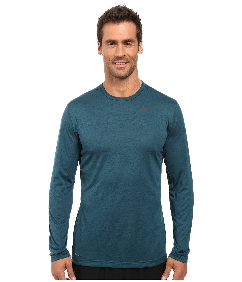 Nike Dri-FITtm Training Long Sleeve Shirt (Seaweed/Midnight Turquoise/Black) Men