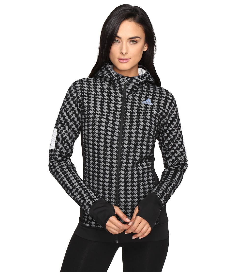 adidas - Ultra Energy Houndstooth Jacket (Black/White) Women's Coat