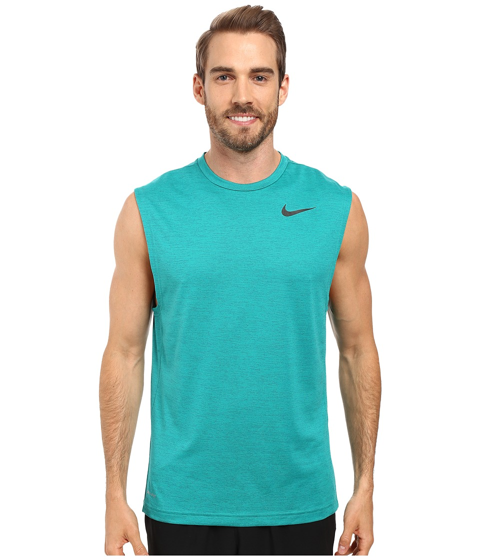 Nike - Dri-FIT Training Muscle Tank Top (Green Abyss/Rio Teal/Black) Men's Sleeveless