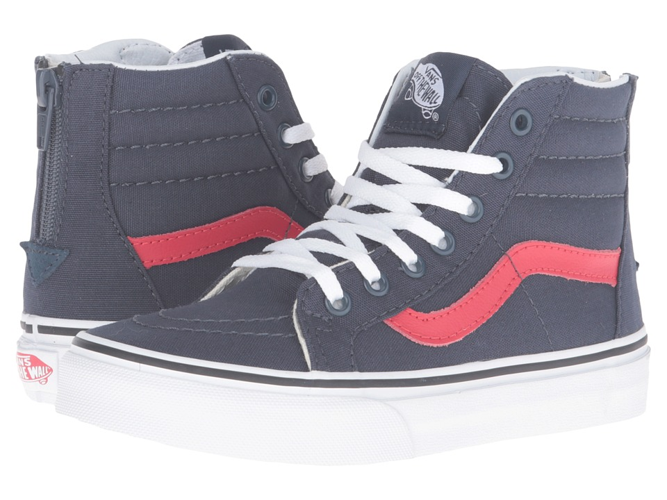 Vans Kids - Sk8-Hi Zip (Little Kid/Big Kid) ((Varsity) Navy/True White) Kids Shoes