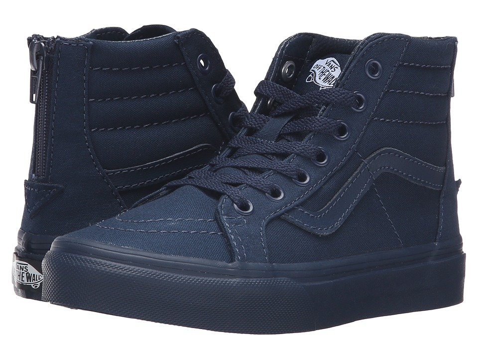 Vans Kids - Sk8-Hi Zip (Little Kid/Big Kid) ((Mono) Dress Blues) Kids Shoes