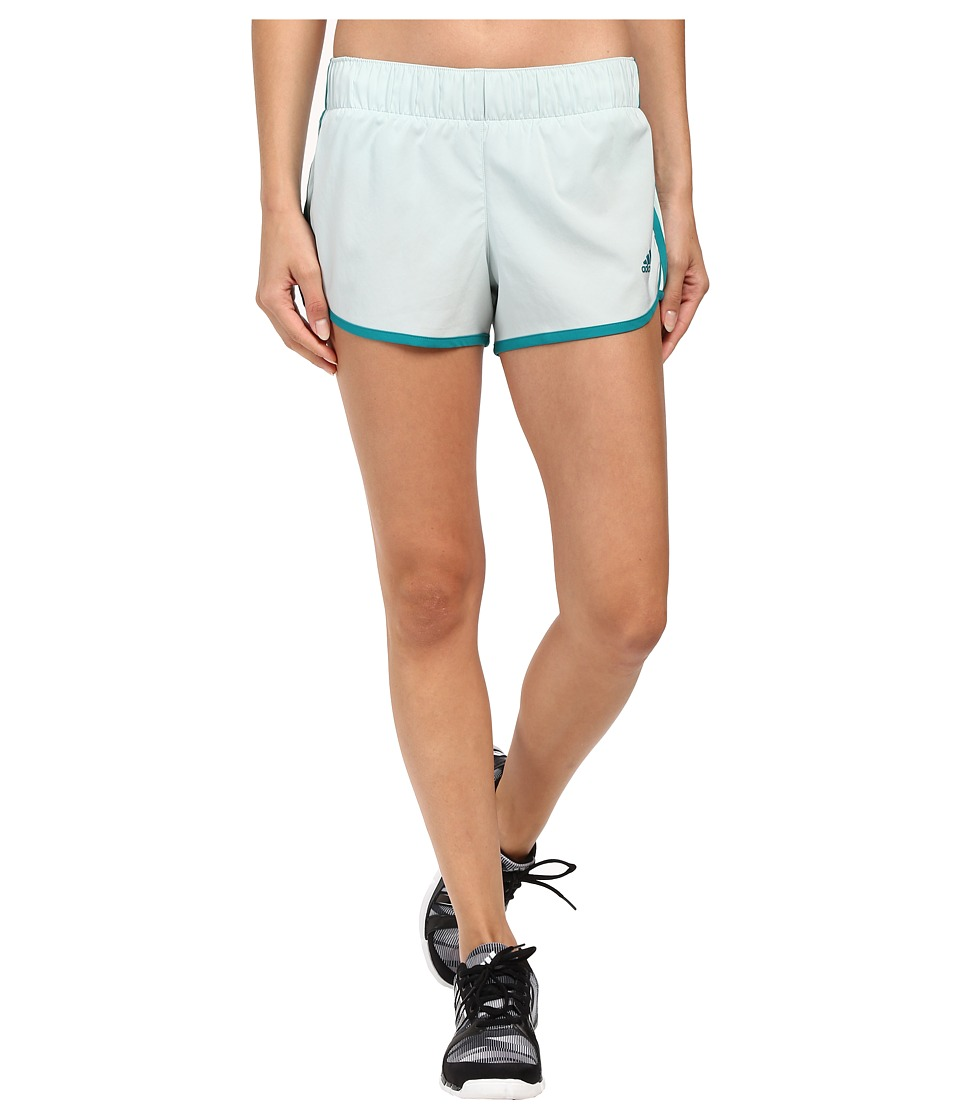 adidas - Woven 3-Stripes Shorts (Vapour Green/EQT Green) Women's Shorts