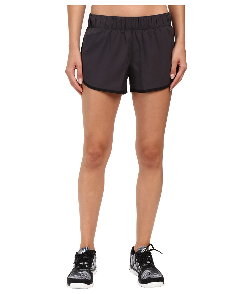 adidas - Woven 3-Stripes Shorts (Utility Black/Black) Women's Shorts