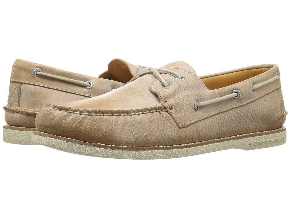 Sperry - Gold A/O 2-Eye Cross Lace (Brown) Men's Moccasin Shoes
