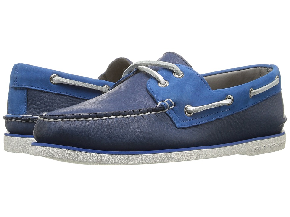 Sperry - Gold A/O 2-Eye Two-Tone (Navy/Blue) Men's Moccasin Shoes