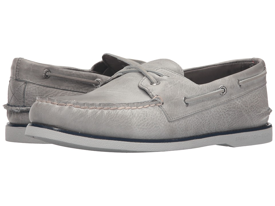 Sperry - Gold A/O 2-Eye Cross Lace (Grey) Men's Moccasin Shoes