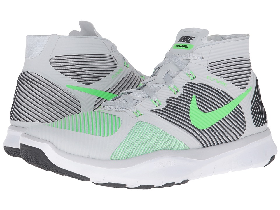 Nike - Free Train Instinct (Pure Platinum/Black/White/Rage Green) Men's Cross Training Shoes