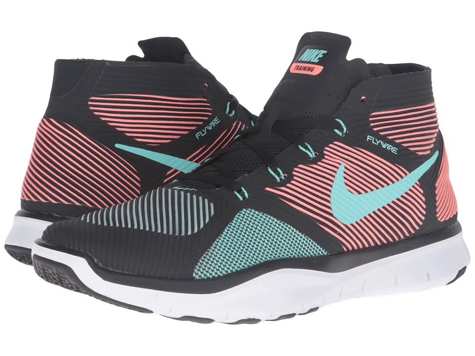 Nike - Free Train Instinct (Black/Bright Mango/White/Hyper Turquoise) Men's Cross Training Shoes