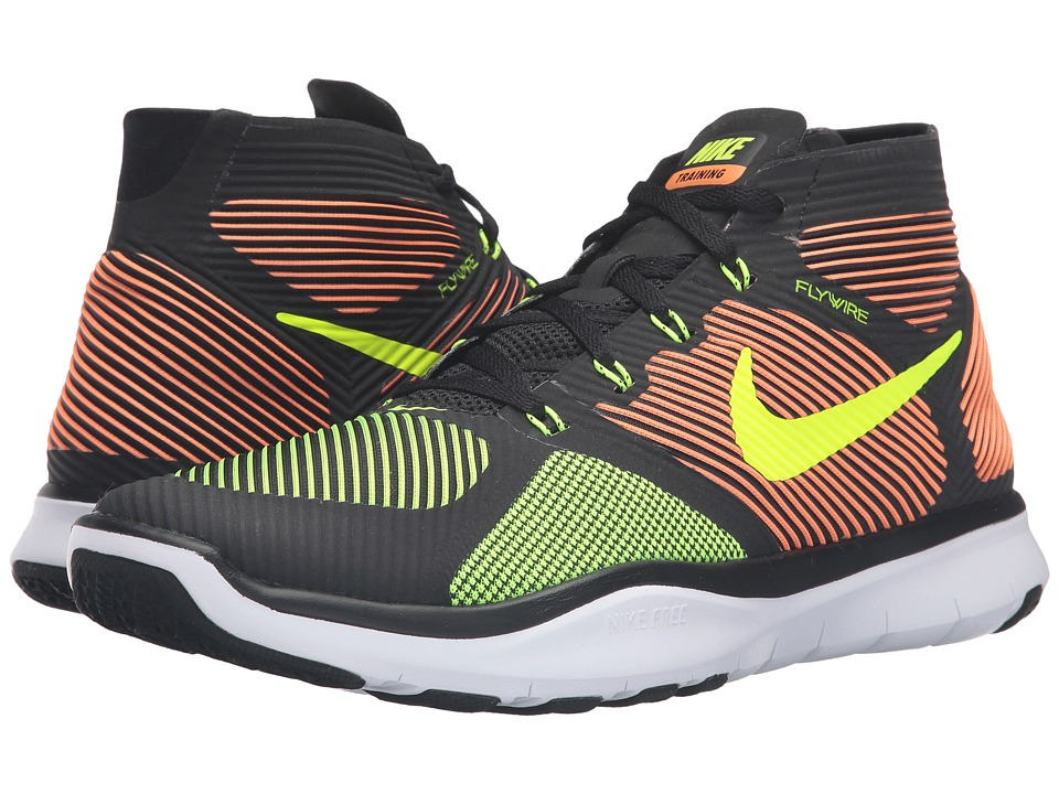 Nike - Free Train Instinct (Black/Total Orange/White/Volt) Men's Cross Training Shoes