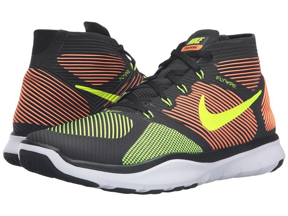 Nike - Free Train Instinct (Black/Total Orange/White/Volt) Men's Cross Training Shoes