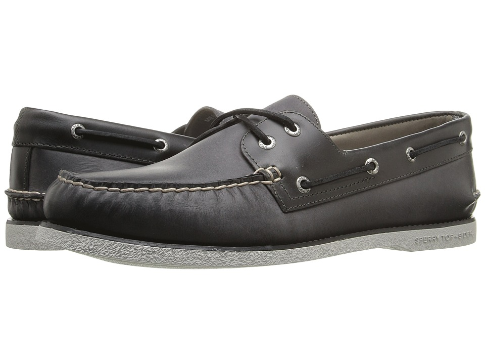 Sperry - Gold A/O 2-Eye Seasonal (Cement) Men's Moccasin Shoes