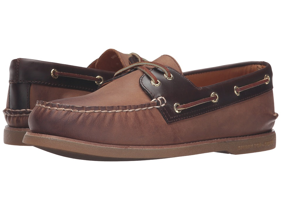 Sperry - Gold A/O 2-Eye Seasonal (Tan/Amaretto) Men's Moccasin Shoes