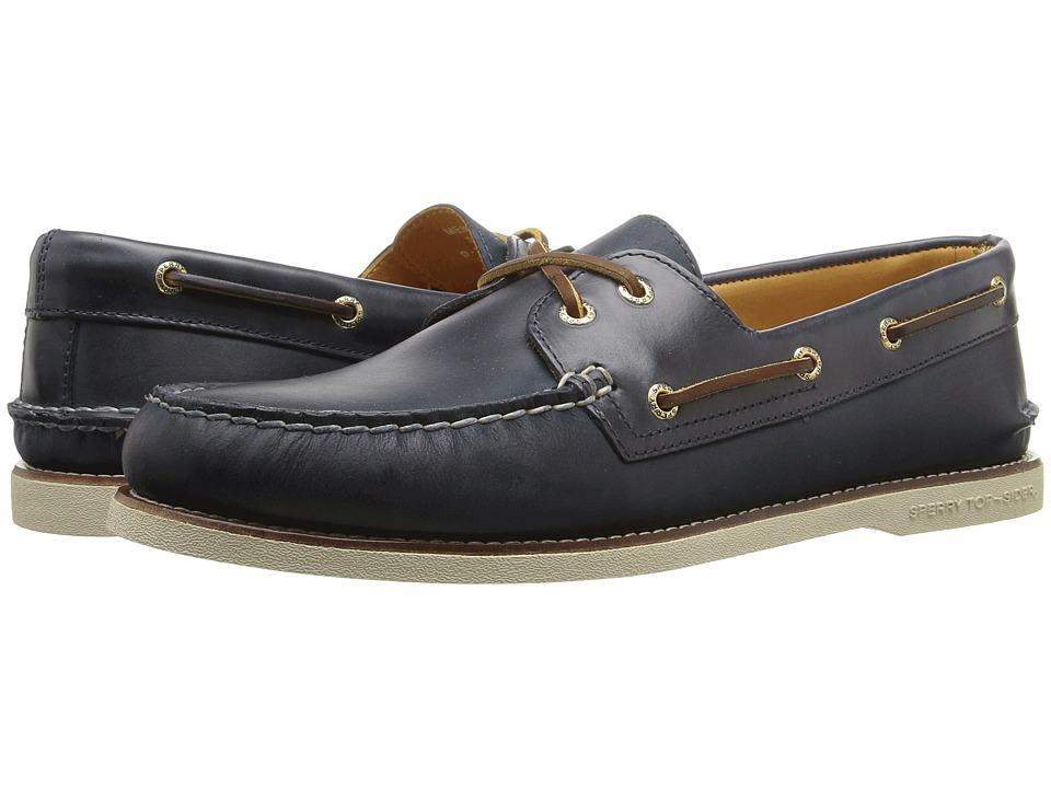 Sperry - Gold A/O 2-Eye Seasonal (Navy) Men's Moccasin Shoes
