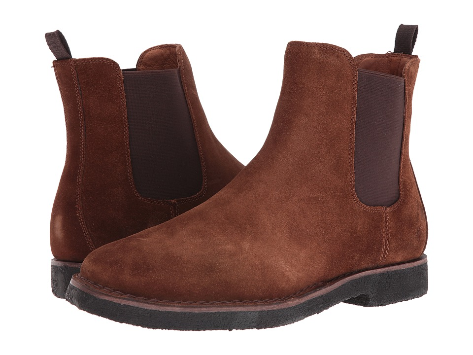 Frye - Arden Chelsea (Brown Oiled Suede) Men's Pull-on Boots