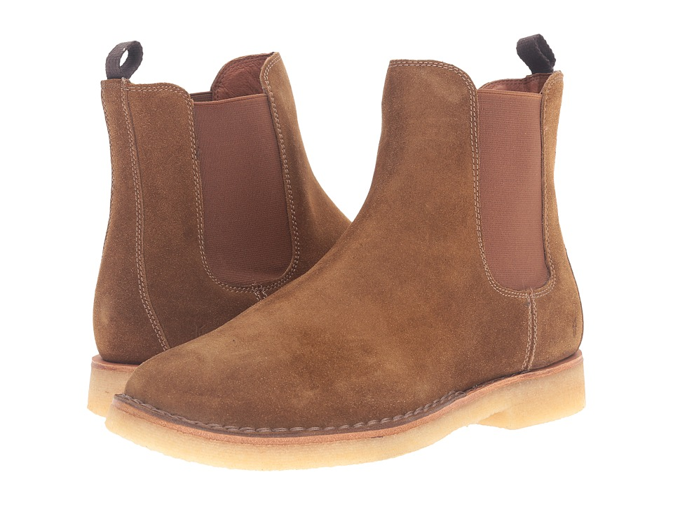 Frye - Arden Chelsea (Khaki Oiled Suede) Men's Pull-on Boots