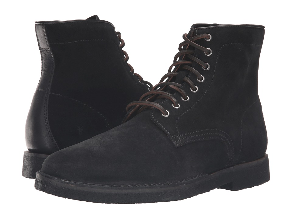 Frye - Arden Lace-Up (Black Oiled Suede) Men's Lace-up Boots