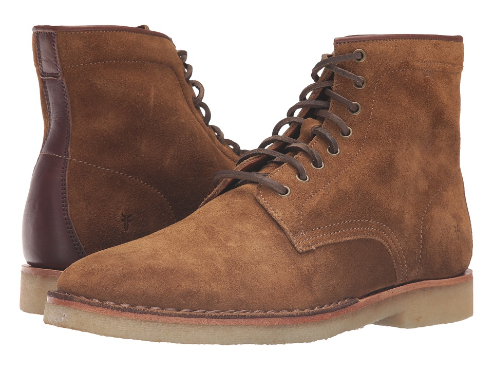 Frye - Arden Lace-Up (Khaki Oiled Suede) Men's Lace-up Boots
