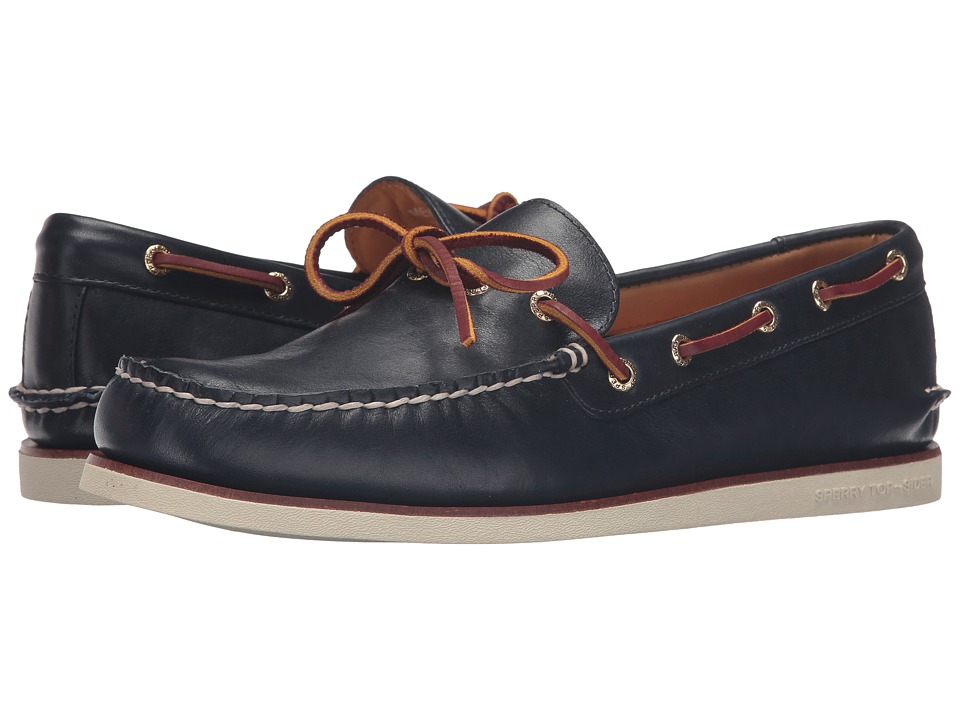 Sperry - Gold A/O 1-Eye Wedge (Navy) Men's Moccasin Shoes