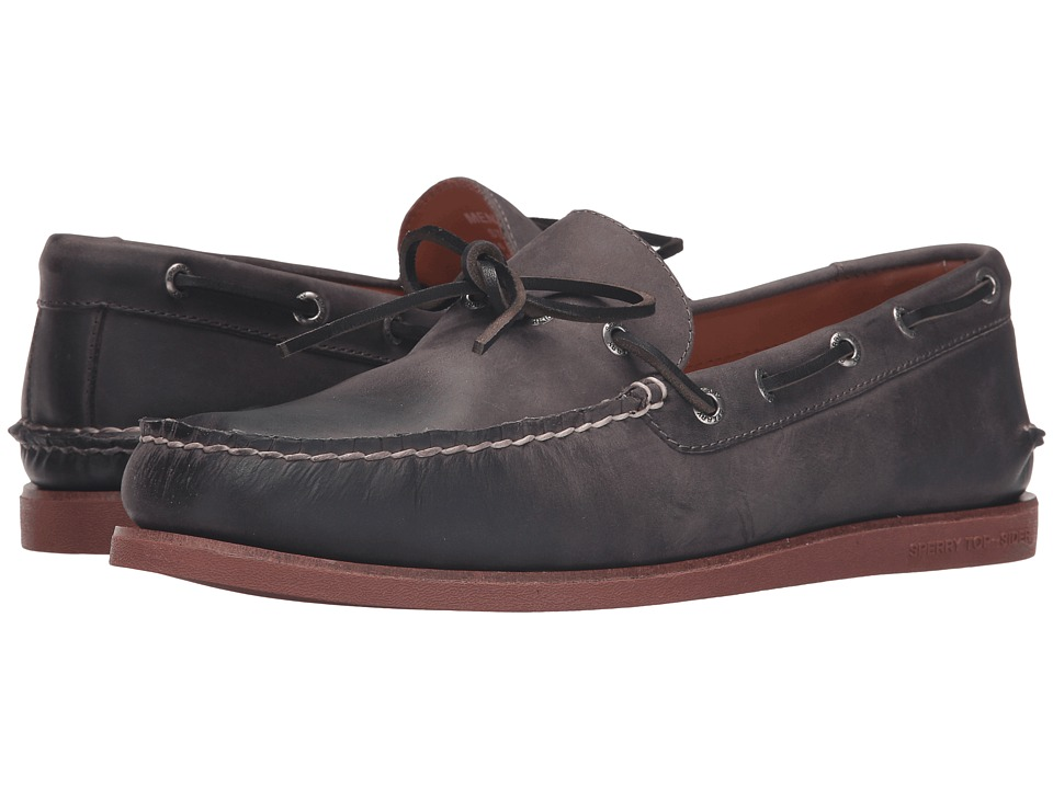 Sperry - Gold A/O 1-Eye Wedge (Charcoal/Brick) Men's Moccasin Shoes