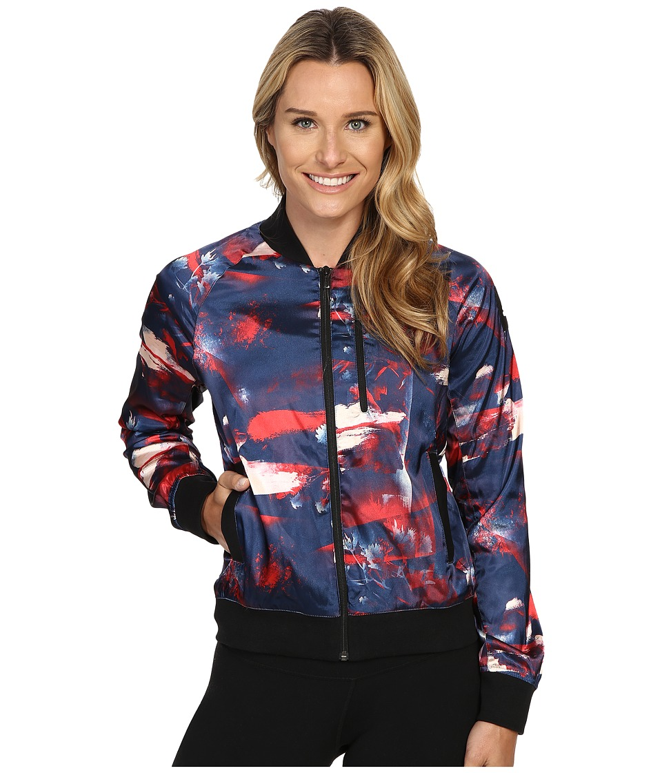 adidas - Flower Bomber Jacket (Ray Red Print) Women's Coat