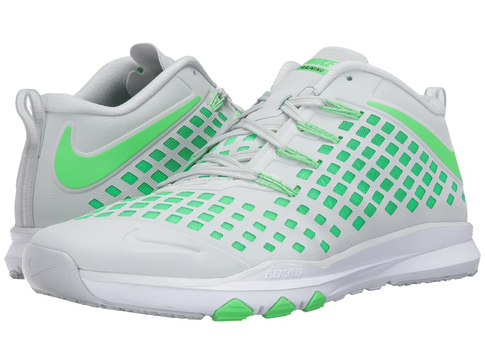 Nike - Train Quick (Pure Platinum/Black/Rage Green) Men's Shoes
