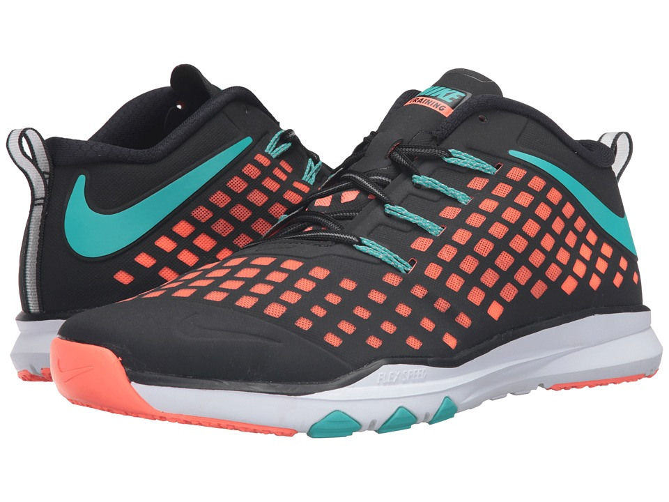 Nike - Train Quick (Black/Bright Mango/Hyper Jade) Men's Shoes