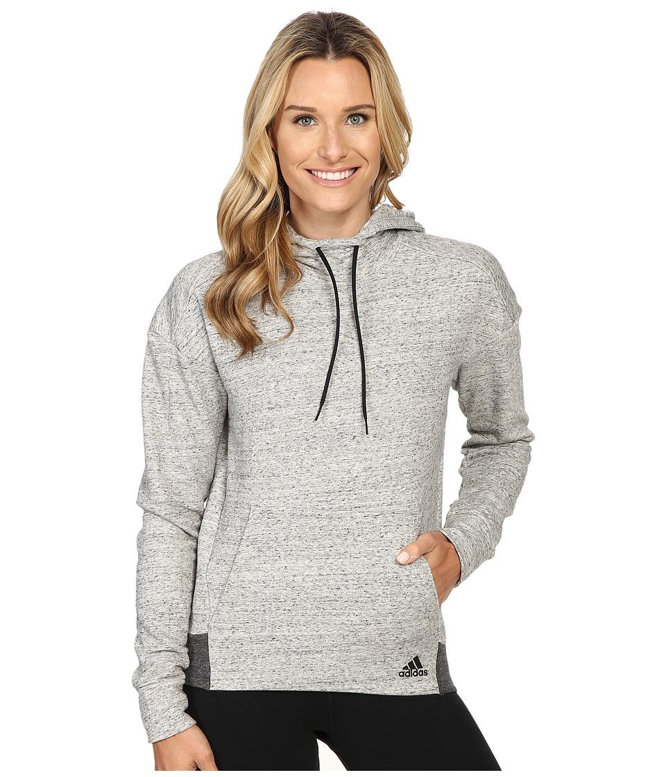 adidas - Cotton Fleece Hoodie (Pepper MGH Melange) Women's Sweatshirt
