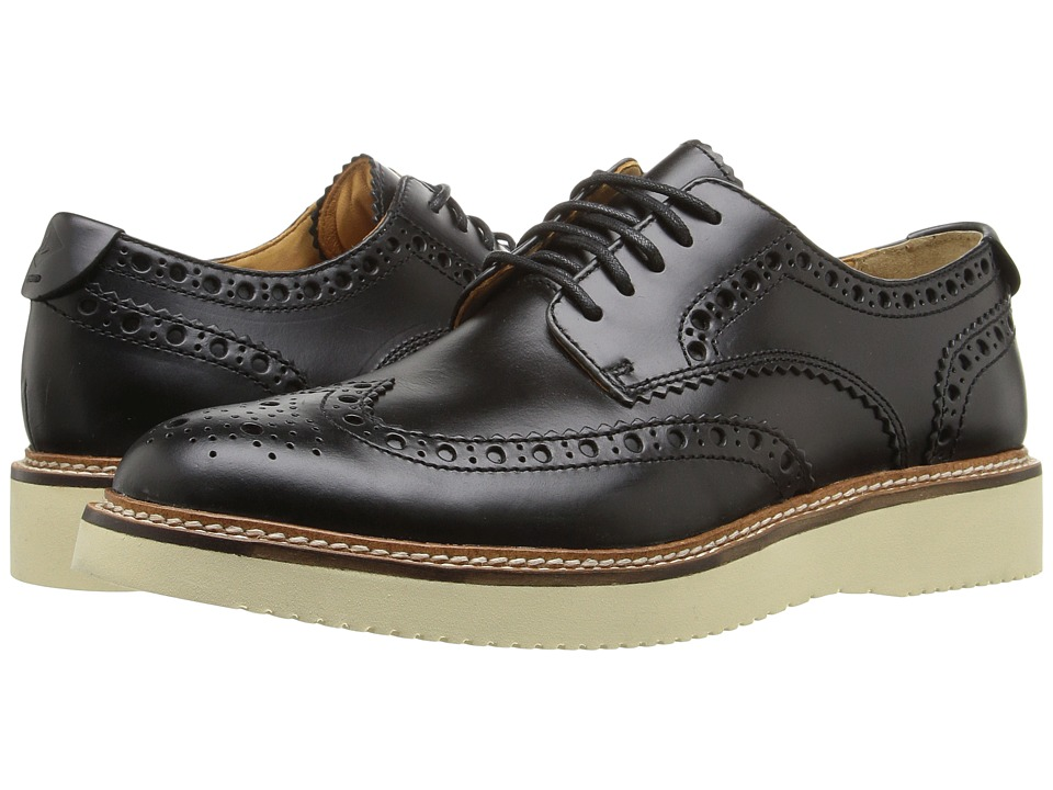 Sperry Top-Sider - Gold Lug Wingtip Brogue Oxford (Black) Men's Lace Up Wing Tip Shoes