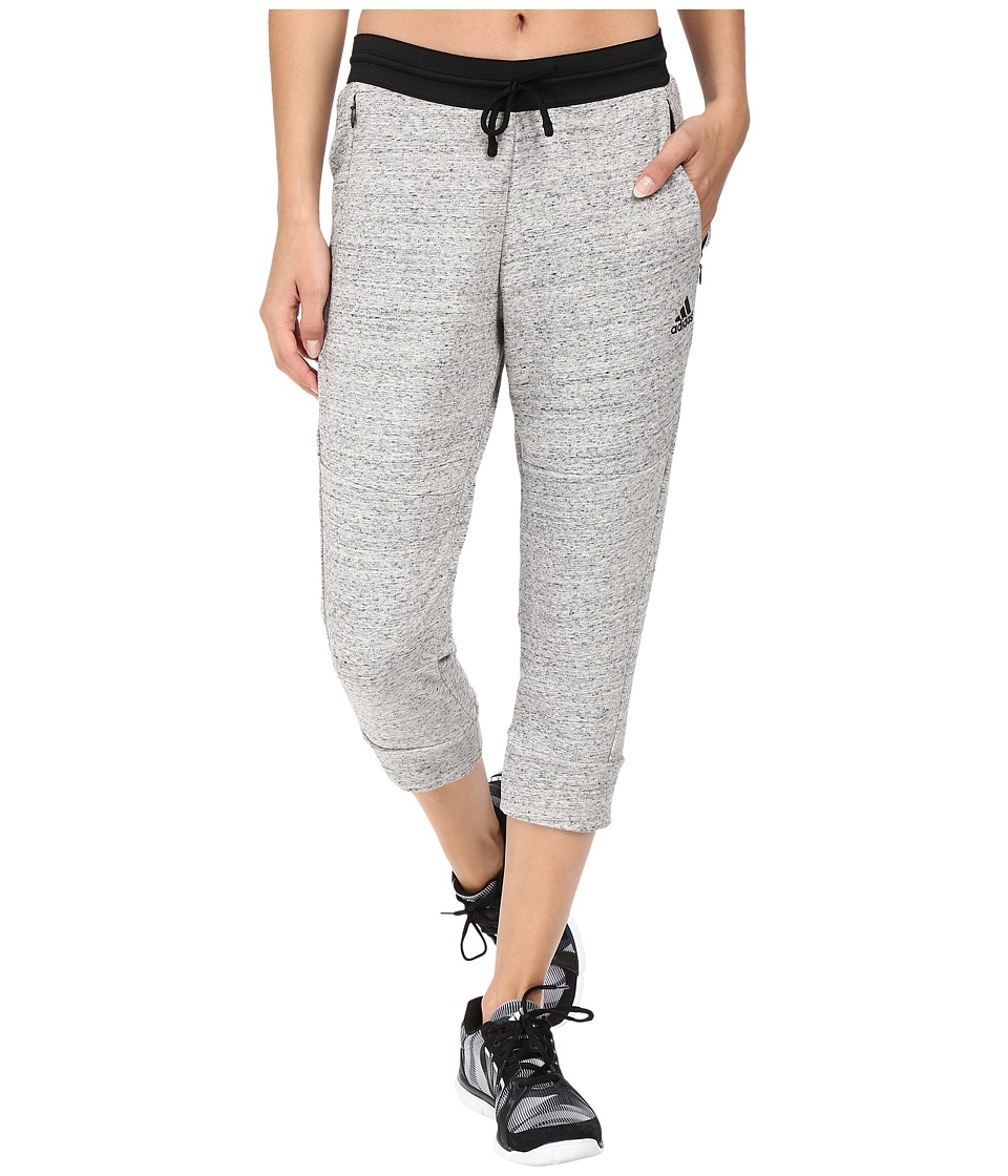 adidas - Cotton Fleece 3/4 Pants (S&P MGH Melange) Women's Workout