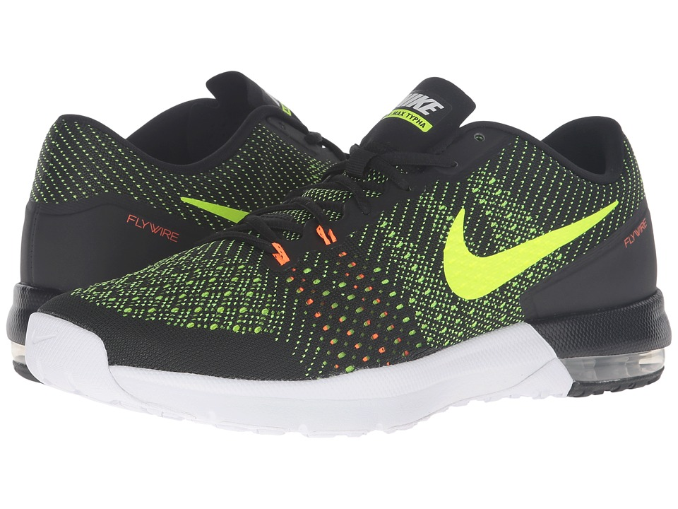 Nike - Air Max Typha (Black/Total Orange/White/Volt) Men's Shoes