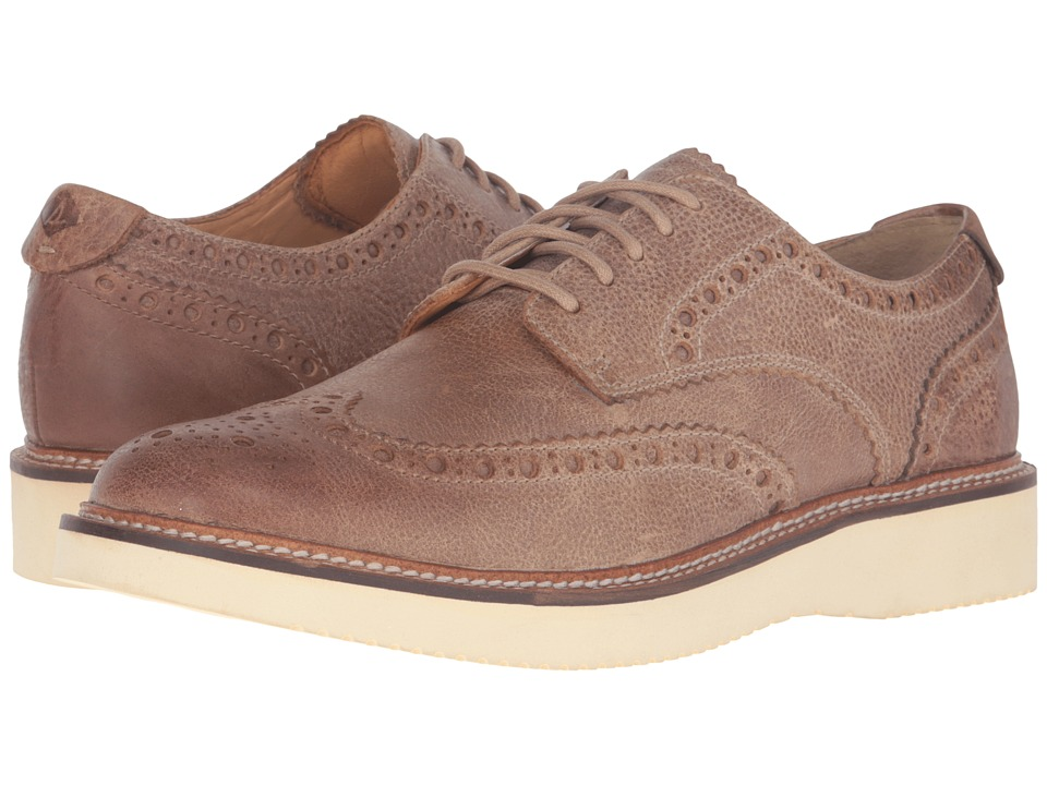 Sperry - Gold Lug Wingtip Brogue Oxford (Tan) Men's Lace Up Wing Tip Shoes