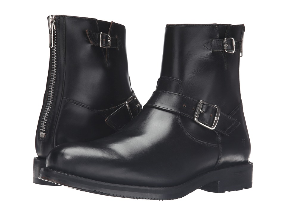 Frye Brayden Engineer (Black Smooth Pull Up) Men