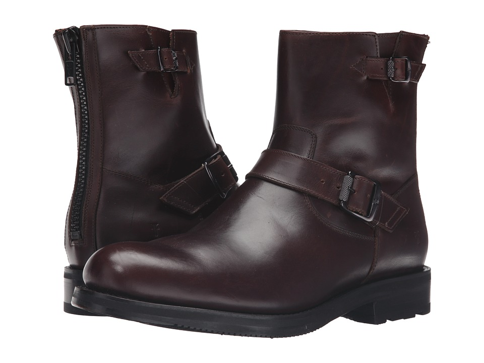 Frye Brayden Engineer (Dark Brown Smooth Pull Up) Men
