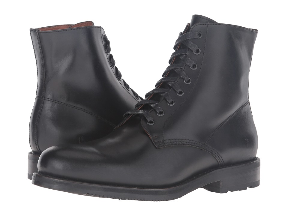 Frye Brayden Lace-Up (Black Smooth Pull Up) Men
