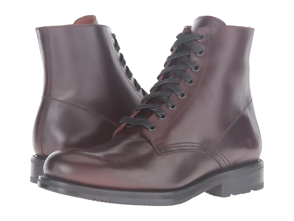 Frye Brayden Lace-Up (Dark Brown Smooth Pull Up) Men