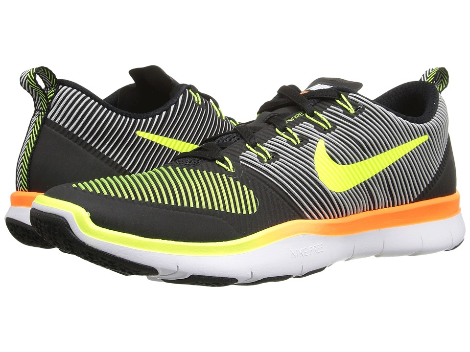 Nike - Free Train Versatility (Black/Total Orange/Volt) Men's Cross Training Shoes