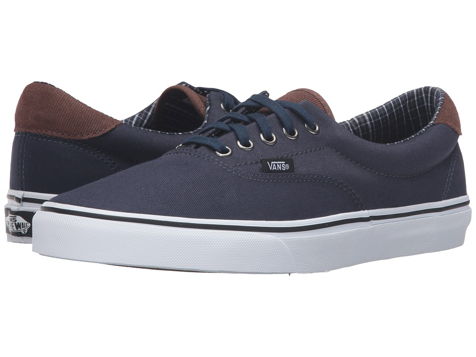 Vans - Era 59 ((Cord & Plaid) Dress Blues/True White) Skate Shoes