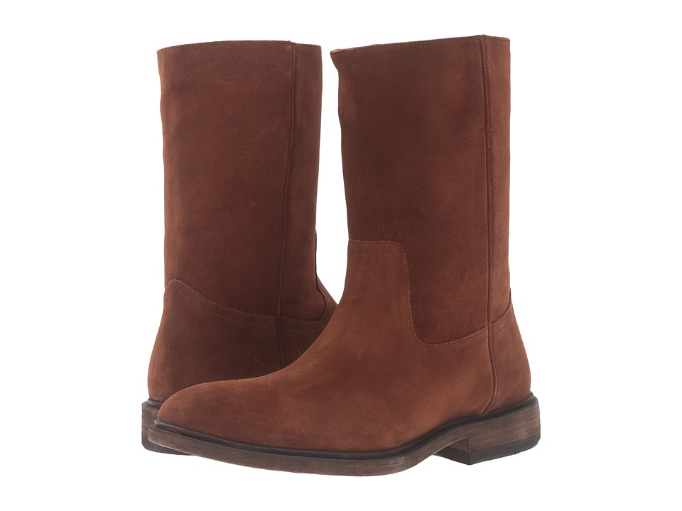 Frye - Chris Pull-On (Brown Oiled Suede) Men's Boots