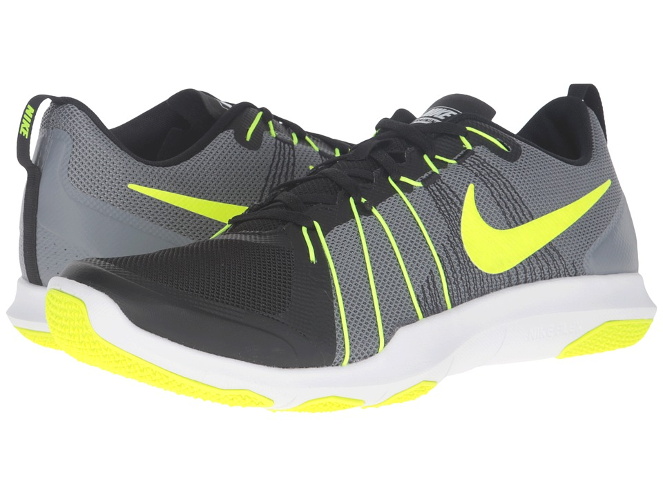 Nike - Flex Train Aver (Cool Grey/Black/White/Volt) Men's Cross Training Shoes