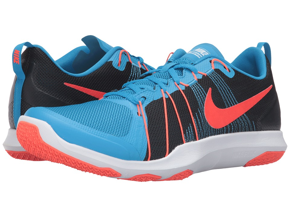 Nike Flex Train Aver (Blue Glow/Black/White/Total Crimson) Men