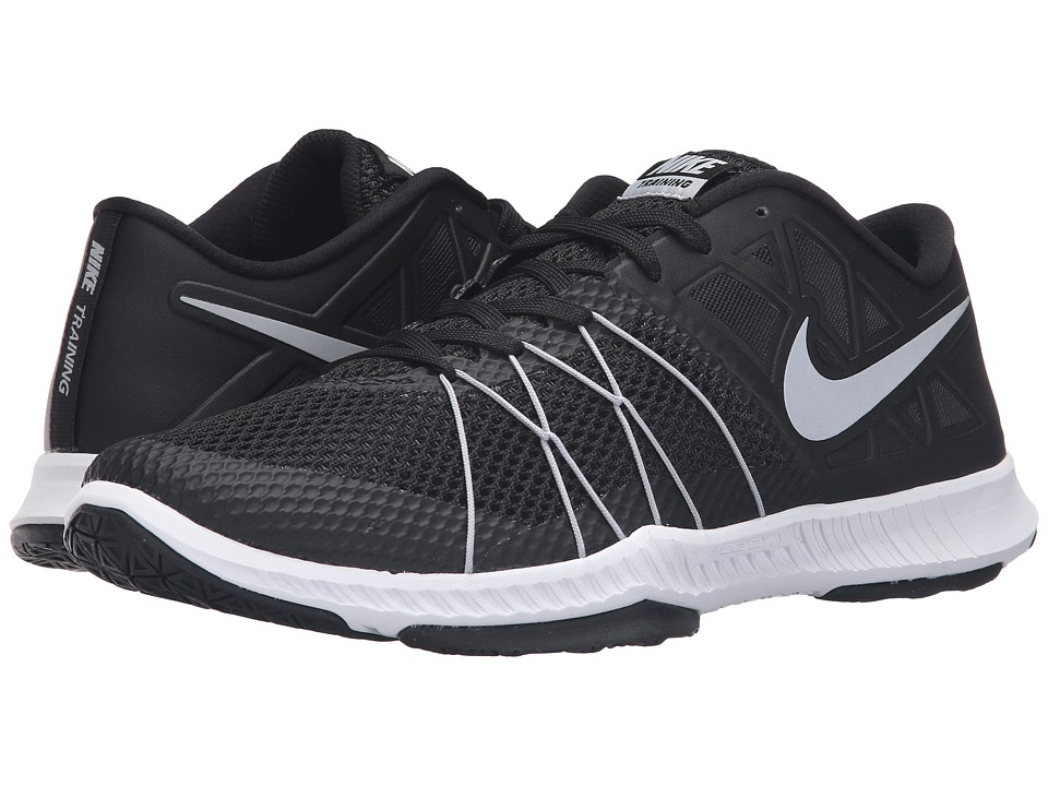 Nike - Zoom Train Incredibly Fast (Black/Black/Metallic Silver) Men's Shoes