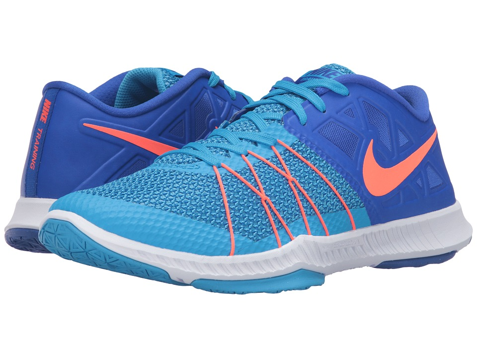 Nike - Zoom Train Incredibly Fast (Blue Glow/Racer Blue/Total Crimson) Men's Shoes