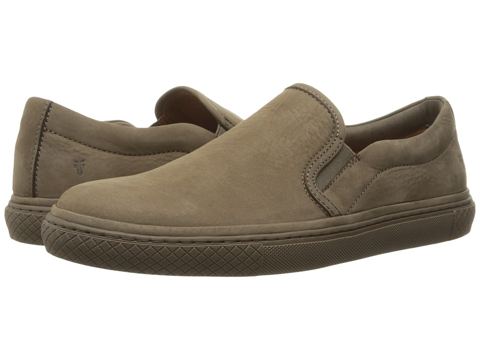 Frye Gates Slip-On (Charcoal Soft Nubuck) Men