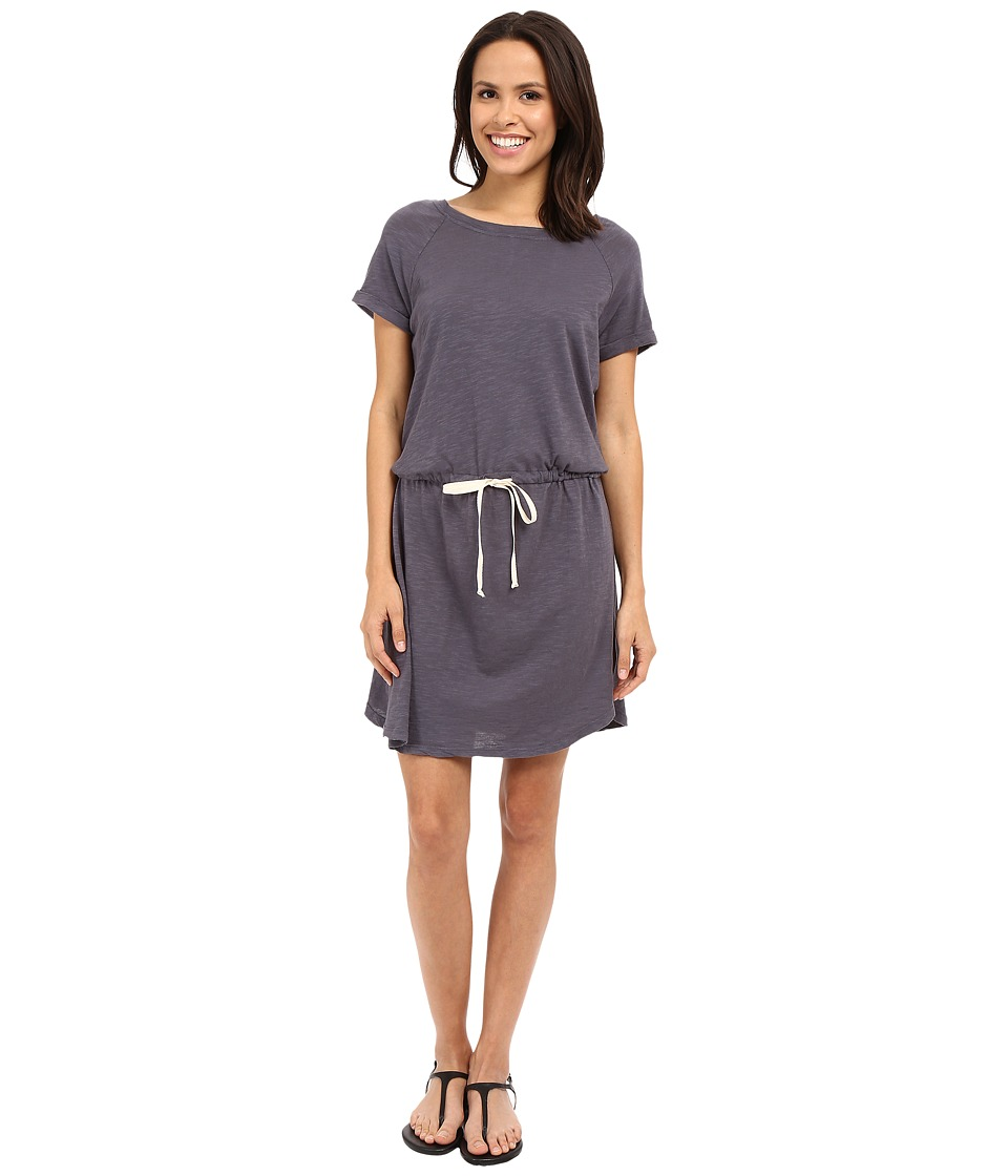 Allen Allen - Raglan Roll Sleeve Dress (Flint) Women's Dress